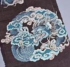 Old Fabric, Silk Tsumugi, Dragon Design