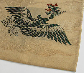 Silk Temple Cloth, uchishiki, Phoenix in Clouds